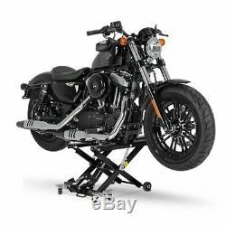 Cric Moto á Ciseaux XL pour Harley Davidson Street 500 noir Lève Hydraulique