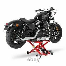 Cric Moto á Ciseaux XL pour Harley Davidson Street 500 rouge Lève Hydraulique