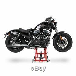 Cric Moto á Ciseaux XL pour Harley Davidson V-Rod rouge Lève Hydraulique