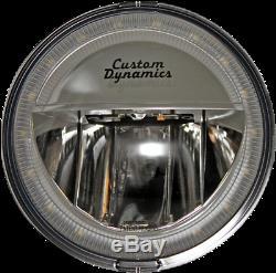 Custom Dynamics Paire Chrome True Faisceau LED Moto Spots Harley Davidson