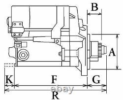 DEMARREUR MOTEUR HARLEY DAVIDSON MOTO FLSTF 1979-2001 1.3 MODELES ENG. 1340 cm3