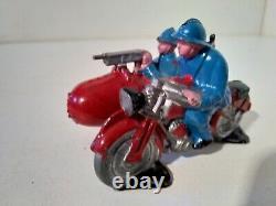 Domage CD DC moto Harley Davidson side car militaire plomb 1/43