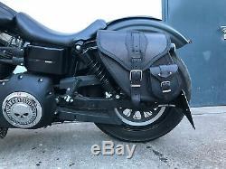 Dynamite Noir Kit Sacoches de Selle Moto HD Harley Davidson Dyna Sportster