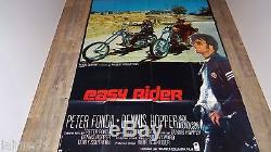 EASY RIDER! Dennis hopper affiche cinema 1969 moto harley davidson