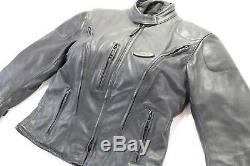 Femmes Harley Davidson Veste Cuir M Noir Fxrg Imperméable Doublure Armor Ventilé