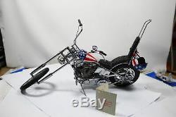 Franklin Mint Harley-Davidson Easy Cavalier Hachoir Avec Casque 110 Voir Fotos