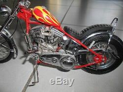 Franklin Mint Moto Harley Davidson 1/10 Easy Rider Billy Bike 1969 Precision Mod