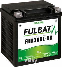 Fulbat Battérie Moto FHD30HL-BS Gel Batterie YHD30HL-BS Gel Harley Davidson