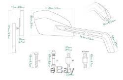 Gold moto rétroviseurs aluminum Cleaver look pour Honda V65 V45 CB900 CB750