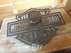 Grand pochoir metallique Harley Davidson Motor Cycles, 85x65cm, 7kg, moto