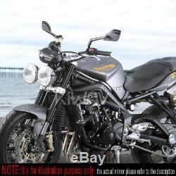 Gris moto rétroviseurs Cleaver look pour Harley-Davidson SOFTAIL FAT BOY LO