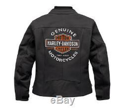 HARLEY-DAVIDSON Femmes Veste de moto en cuir, ce APPROUVÉ, 98131-17ewith000 l gr