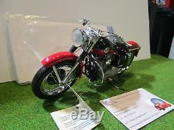 HARLEY-DAVIDSON XL SPORTER de 1957 rouge au 1/10 FRANKLIN B11TQ07 moto miniature