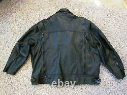 Harley Davidson 2002 Nevada Cuir Noir Veste Moto 98122-98VM 3XL XXXL