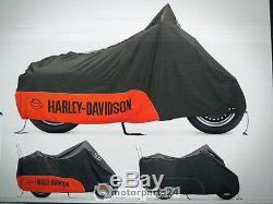 Harley Davidson Béquille & Shield Bâche Bâche pour moto Intérieur u. Extérieur