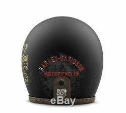 Harley Davidson Casque de Moto Bootlegger's Convenable 98236-19EX Noir Jet