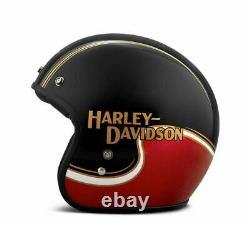 Harley-Davidson Casque de Moto The Pelle Mécanique 98277-19EX Jet Noir-Rouge
