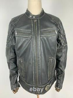 Harley-Davidson Cuir Véritable Veste de Moto en Réel Biker Noir L