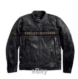 Harley-Davidson D H Veste en cuir Moto EN PASSANT Taille L 98074-14VM/000L