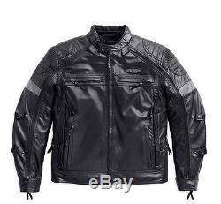 Harley-Davidson D H Veste en cuir Moto FXRG Taille XL longue 98095-15VT/002L