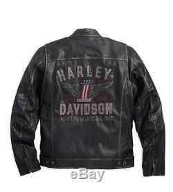 Harley-Davidson D H Veste pour moto LONGWAY Taille M en cuir 98089-15vm/000M