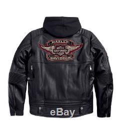 Harley-Davidson D H Veste pour moto ROCKER en cuir Taille 2XL 97037-15VM/022L