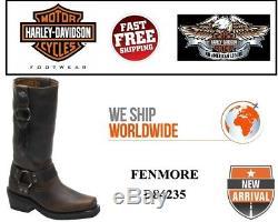 Harley-Davidson D84235 Fenmore Womens Brun Moto Bottes D'Équitation en Cuir