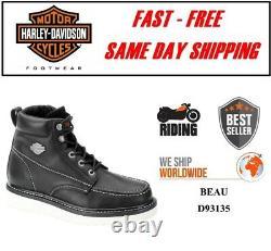Harley-Davidson D93135 Homme Beau Cuir Noir Équitation Moto Boots-Usa Co