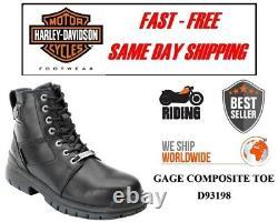 Harley-Davidson D93198 Homme Gage Embout Composite Moto Cuir Bottes