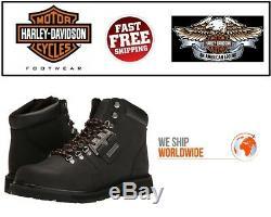 Harley Davidson D93434 Templin Noir Pou Hommes Cuir Pleine Fleur Bottes de Moto