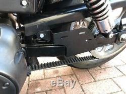 Harley Davidson Dyna Nettoyer Noir + Support Pivotant Sacoches de Selle Moto Sac