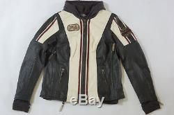 Harley Davidson Femme Alyssa Colorblock Racing Cuir Veste S L 97004-18VW