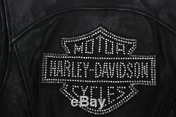 Harley Davidson Femme Cycle Diva Cristaux Swarovski Veste Cuir 98121-08VW M