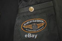 Harley Davidson Femmes 110th Anniversaire Cuir Noir Veste M 97148-13VW Rare