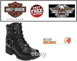 Harley-Davidson Femmes 5.5 D83775 Jocelyne Noir Moto Cuir Bottes
