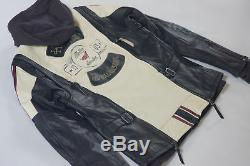 Harley Davidson Femmes Alyssa Couleurs de Course Veste Cuir M L XL 97004-18VW