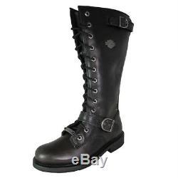 Harley Davidson Femmes Jill Haut Lacet Botte Moto Chaussures
