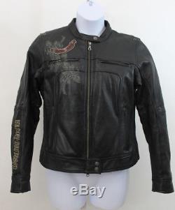 Harley Davidson Femmes Noir Veste Moto Evangeline 97155-07vw