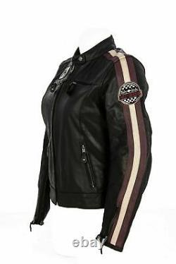 Harley-Davidson Femmes Veste de Moto en Cuir, Ce Approuvé, 97005-18EW