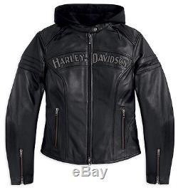 Harley-Davidson Femmes Veste de Moto en Cuir ENTHUSIAST Gr. S 98030-12VWith000S