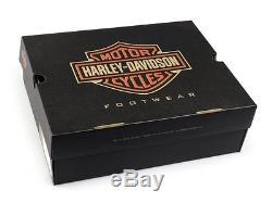 Harley Davidson Feu Stop Mens Cuir Double Zip Moto Biker Bottes Noir