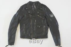 Harley Davidson Homme D Poche Cuir Noir Veste M L Européen Édition Rare