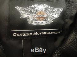 Harley Davidson Homme El Camino II Noir Veste de Moto en Cuir L 98035-12vm