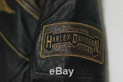 Harley Davidson Homme Hex Réflectif Bomber Veste Cuir Lt L Haut 97032-15vm