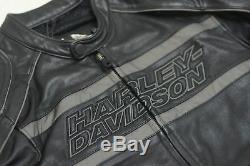 Harley Davidson Homme Luminator 360 Cuir Noir Veste M L XL 2XL 98013-10VM