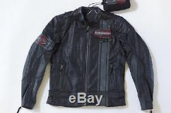 Harley Davidson Homme Manta Coolcore Perforé Veste Cuir 97009-18VM M 2XLT