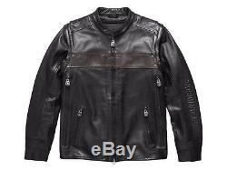 Harley Davidson Homme Pénis G Ltd Covertible Veste Cuir Gilet 97157-17VM M L