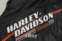Harley Davidson Homme Screamin Aigle Cuir Veste XL Raceway 98226-06VM Rare