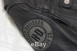 Harley Davidson Hommes Crossroads Réfléchissant Noir Veste Cuir L 2XL 97152-13VM