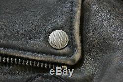Harley Davidson Hommes Étiquette Noire #1 Crâne Cuir Vieilli Veste XL 97174-17vm